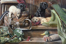 ART PRINT Dog Tired 2 - Kevin Daniel Lab Labrador Retriever Hunting Poster 32x47