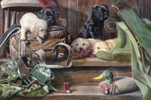 ART PRINT Dog Tired 2 Kevin Daniel Lab Labrador Retriever Hunting Poster 13x19