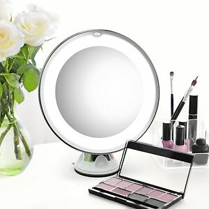 7x magnifying makeup cosmetic mirror led lighted portable 13780