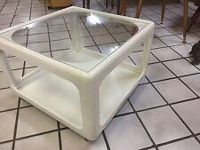 Kultiger Beistelltisch Tisch retro  Würfeltisch Couchtisch orginal  70er rollen