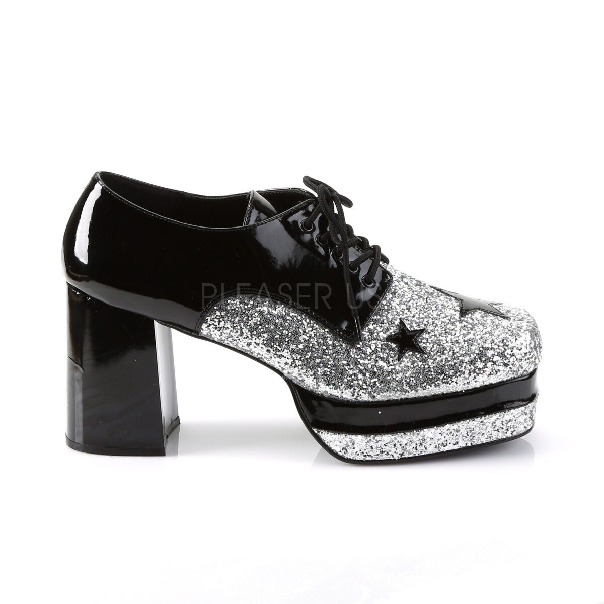 bea3415ca76c Silver Gold Pimp Rock Star Disco 70s KISS Platform Costume Mens Shoes 11 12  13
