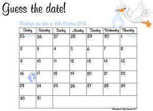 guess the baby weight template - personalised guess the baby 39 s due date baby shower game