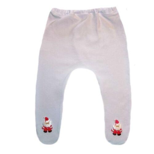 Baby Girl White Christmas Santa Claus Tights 6 Preemie Newborn Infant Sizes