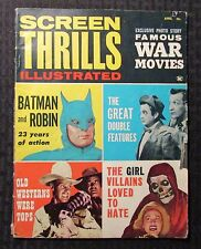 1963 SCREEN THRILLS Illustrated Magazine v.1 #4 VG- 3.5 Batman & Robin