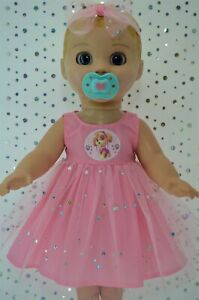 Play-n-Wear-Dolls-Clothes-For-17-034-Luvabella-Doll-PINK-SEQUIN-DRESS-HEADBAND