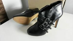 Vince-Camuto-Black-Belted-Leather-Ankle-Boots-Sz-6-5M-36-5-150