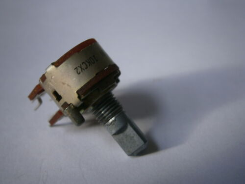 Potentiometer Poti ALPS 10KC2 NEU 6mm Achse 16mm breit 25mm hoch LEM 097620