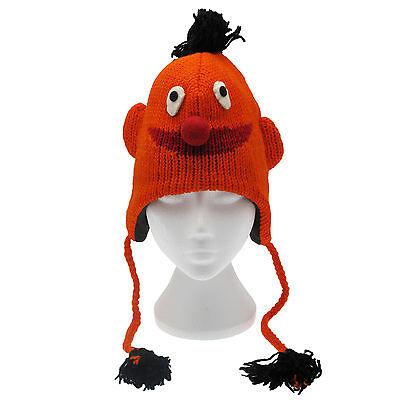 Avere Una Mente Inquisitrice Fun Ernie Sesame Street Handmade Inverno Cappello Di Lana, Fodera In Pile, Unisex-mostra Il Titolo Originale Costruzione Robusta