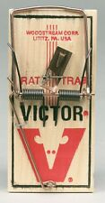 New! VICTOR Rat Mouse Snap Trap Reusable Spring Pedal Rodent Pest Control M201