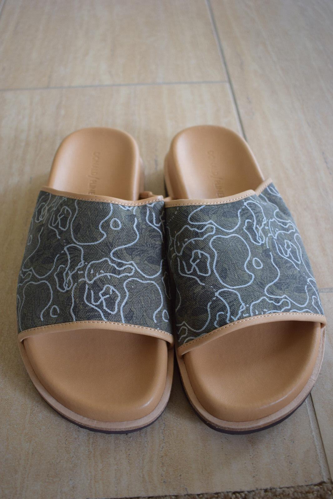 Donald J Pliner Uomo Brody SLide Textile Sandals in Green Taglia 8