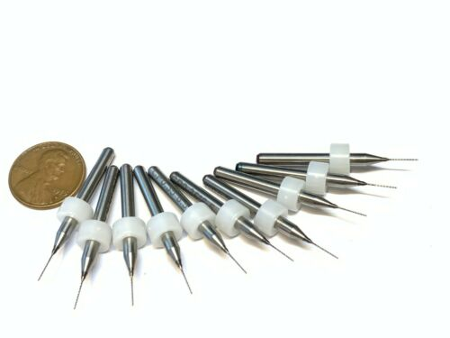 10 Pieces .35mm Micro Drill Bits 3D Printer Nozzle Cleaning PCB kit Extruder A30