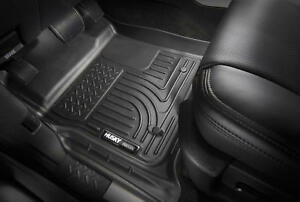 Husky Liners Black Car Floor Mat Rubber Carpet For Ford - Rubber connecting floor mats