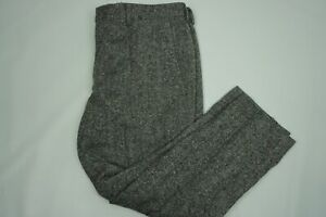 Jcrew-Ludlow-Magee-Donegal-Tweed-Gray-Wool-Slim-Mens-Pants-Sz-36-28
