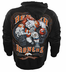 new concept 94d49 27918 Details about Authentic NFL Denver Broncos Running Back Hoodie, Hoody,  Peyton Manning, M-XXL