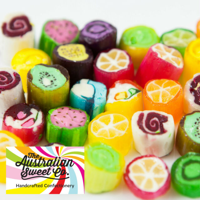1kg Rock Candy Fruit Assorted boiled bulk lollies - Wedding Favours Party
