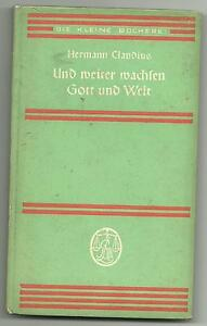 Details About Hermann Claudius Und Weiter Wachsen Gott Und Welt Gedichte