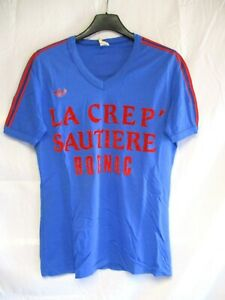 Détails sur Maillot ADIDAS vintage porté n°4 ROGNAC nylon shirt trikot maglia jersey 80's M