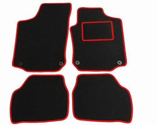 Fully Tailored Car Mats for VAUXHALL Corsa C from 2001 to 2006 with RED TRIM