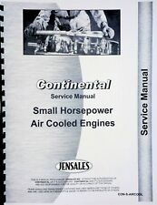 Continental Engines Small Air Cooled Service Repair Manual