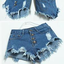 NEW 2017 Womens Denim Jeans Shorts Hot Pants Low Waist Super Mini Short Pants XL