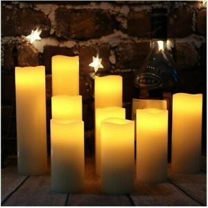 9-piece-Flameless-LED-Candles-Ivory-Real-Wax-battery-candles-with-remote-timer