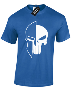 SKULL OF SPARTAN MENS T SHIRT WEIGHTLIFTING WORKOUT FITNESS BOXING MUSCLE LIFT