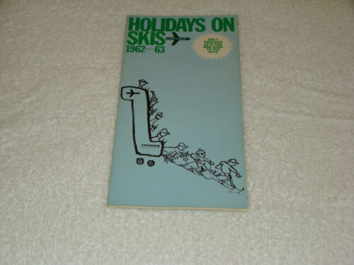 1962 1963 Holidays On Skis SwissAir Travel Brochure Pamphlet Prices