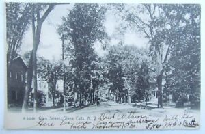 VINTAGE-1907-UNDIVIDED-POSTCARD-GLEN-STREET-GLEN-FALLS-NEW-YORK