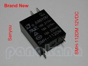 Sanyou SMH-112DM 12VDC SPST Relay – Brand New
