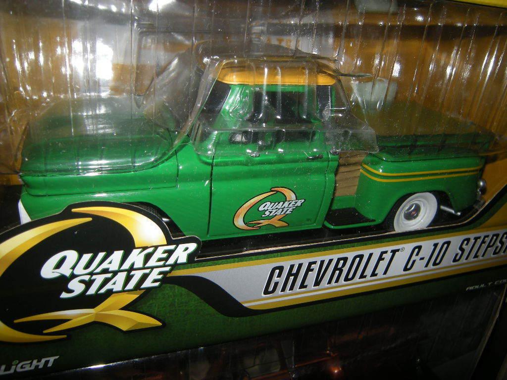 1 18 Greenlight Chevrolet c-10 Stepside Quaker State OVP