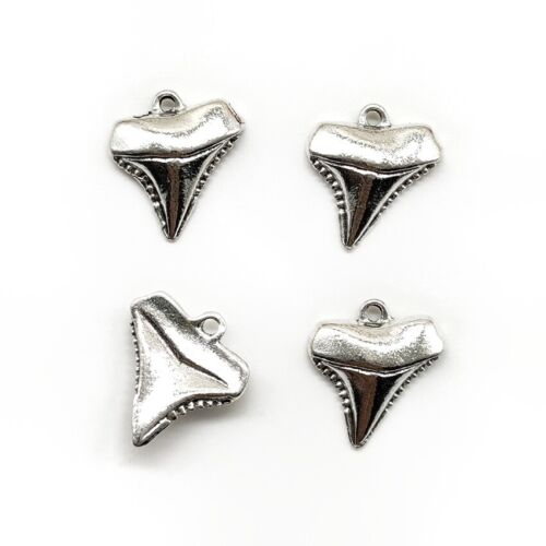 20X shark teeth Antique Silver Charms Pendants for Jewelry Making DIY 17*15mm