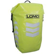 Lomo Hi Viz Pannier Bag. Waterproof High Visibility Yellow Dry Bag