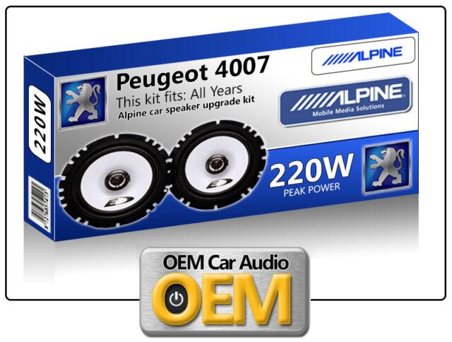Peugeot 4007 Rear Door speakers kit Alpine car speakers 220W Max