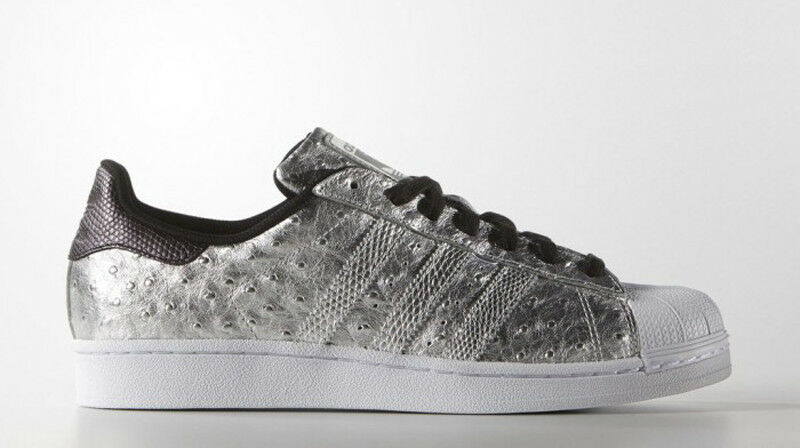 BNIB ADIDAS Originals Superstar AQ4701 Ostrich Embossed Leather Sneaker 9 M Seasonal clearance sale