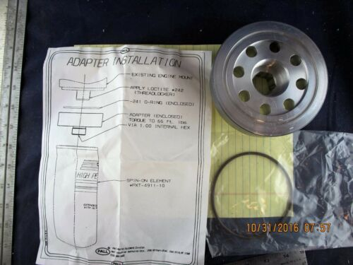 """E6S4 12 Cartridge To Spin On Oil Filter Adaptor Conversion Kit 1 ½"""""""