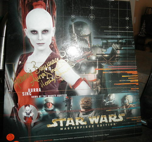 Star Wars AURRA SING 12  figure signé Michonne Limited Ed