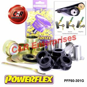 Adroit Renault Clio V6 (01-05) Powerflex Front Lower Wishbone Buissons, Carrossage Pff60-301g-afficher Le Titre D'origine Facile à Utiliser