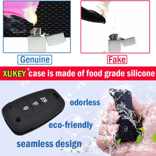 XUKEY Silicone Key Case Remote Cover For VW Touareg Shell Jacket Sleeve 2010–18