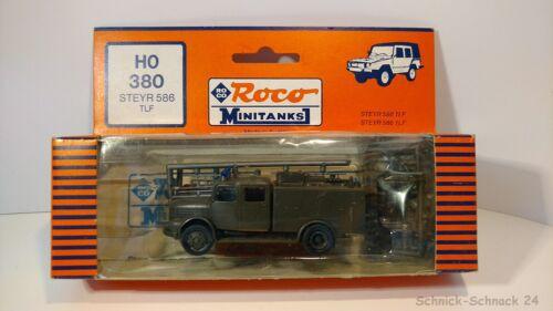 #28190# Roco Minitanks 380 Steyr 586 TLF Feuerwehr OVP neuw