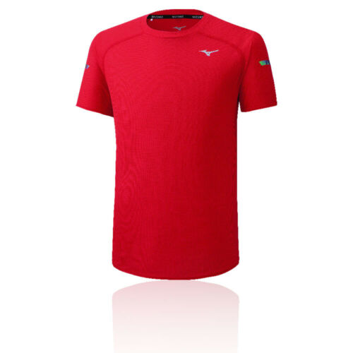 Mizuno Mens DryAeroFlow T Shirt Tee Top Red Sports Running Gym Breathable