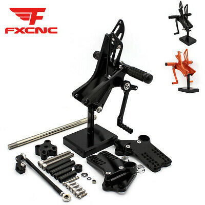 For KTM RC250 RC390 All Years CNC Rearset Footrest Footpegs Foot Pegs Pedals Set