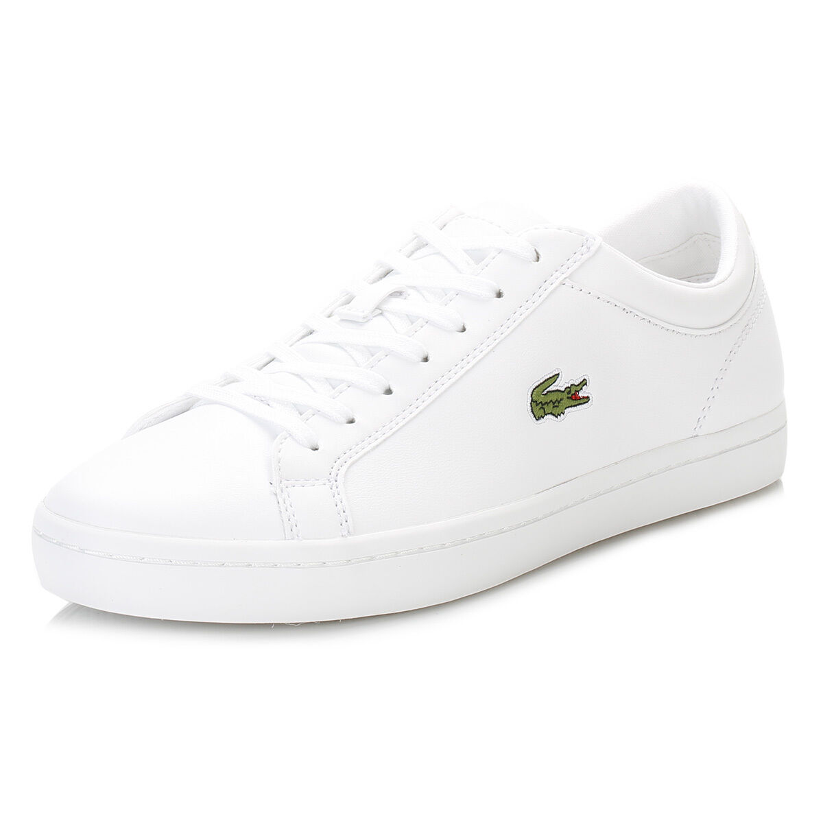 Lacoste Womens White Trainers, Straightset BL1 SPW, Lace Up, Casual Sneaker shoes