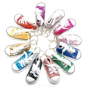 89a32e455d01 Favorict (12 Pack) Sparkle Canvas Mini Sneaker Shoe Keychain Keyring ...