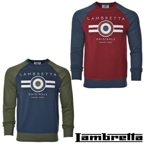 Lambretta Sweatshirt Jumper Crew Neck Warm Winter Lightweight Cotton UK S-4XL