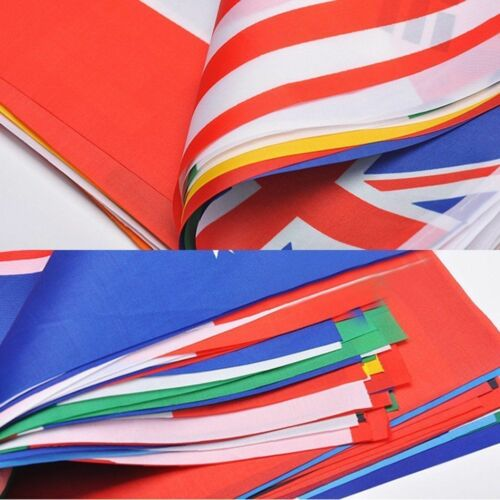 WORLD CUP FOOTBALL BUNTING Massive 10 Metres 32 Flags each flag 7X11 inches