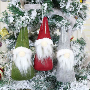 Christmas-Ornaments-Gift-Santa-Claus-Snowman-Tree-Toy-Doll-Hang-Decorations