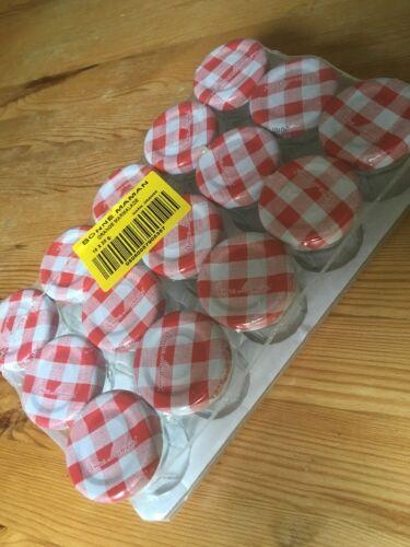 15 x Small  30g Bonne Maman Glass empty Jam Jars  Marmalade Spices Preserves