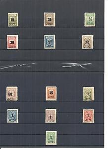 Memel-Litauen-Klaipeda-1923-Einzelmarken-aus-MiNrn-193-229-postfrisch