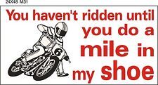 M031 FLAT TRACK racing mile Motorcycle Bike garage banner