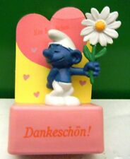 2.0076 GERMAN LANGUAGE COURTING SMURF ON RECTANGULAR STAND – VERY GENT USED